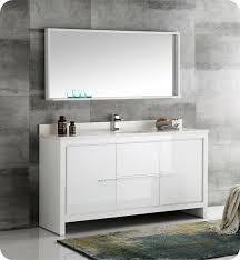 fresca allier 36 quot wenge brown modern bathroom vanity w fresca fvn8119wh s allier 60 white modern single sink bathroom