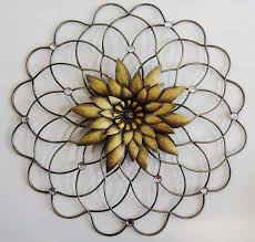 Metal Flower Wall Decor - wall art ideas design bronze metal flower wall art sample wire