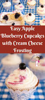 easy apple blueberry cupcakes with cream cheese frosting veena