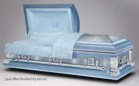 blue casket stainless steel caskets chapel of the pines crematory