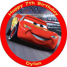 cars cake toppers cars lightning mcqueen edible 8 personalised birthday cake topper