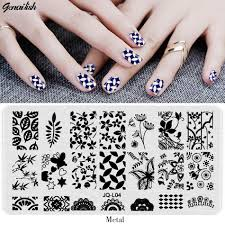 jql nail stamping plates stencils for nails art lace flower animal