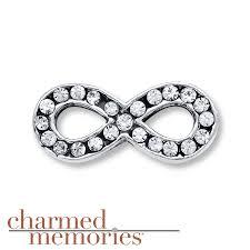 kay jewelers charmed memories kay charmed memories crystal infinity charm sterling silver