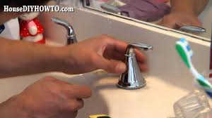 how to install replace a bathroom faucet youtube