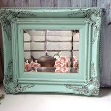shop green shabby chic mirrors on wanelo