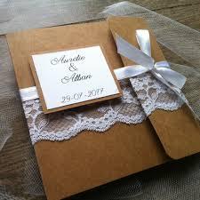 faire part mariage dentelle chic faire part mariage ruban dentelle et kraft votre heureux