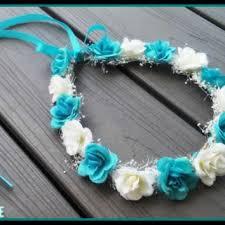 white and blue headband best 25 flower girl headpiece ideas on diy flower