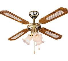 Ceiling Fan Lights Buy Home Decorative 3 Light Ceiling Fan Brass At Argos Co Uk