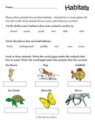 science animals of land and water habitats by mrs motley solteacher