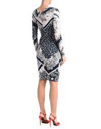 light pink knee length dress lyst just cavalli knee length dress in pink