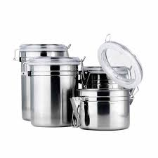 canister for kitchen 1pc stainless steel coffee tea sugar seal pot metal food