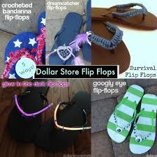 dollar store flip flops favecrafts com