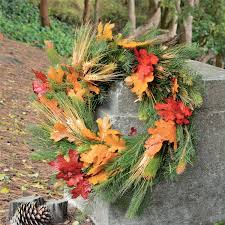 door wreaths for fall fall wheat wreath thanksgiving wreath pine