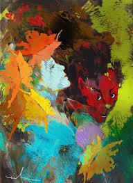 beauty beast painting miki goodaboom