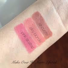 Lipstick Makeover Hi Matte update 2017 swatch lipstik matte halal purbasari sariayu wardah