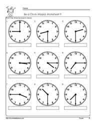 telling time to quarter hour worksheets worksheets