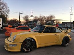 rwb porsche yellow 996tt powered speed yellow 964 3 6t rwb donjulio 6speedonline