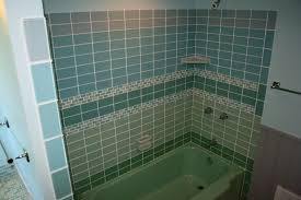 blue tile bathroom ideas fabulous green and blue subway tile for wall panel small space