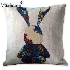 new british vintage colorful shoe guitar rabbit pillowcase cotton