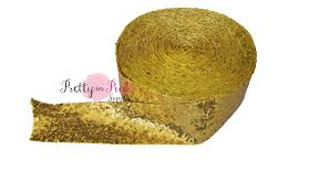 sequin ribbon gold sequin ribbon 2 5 ribbon 2 5 grosgrain
