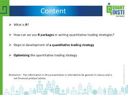 how to design quant trading strategies using u201cr u201d