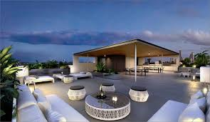 Covered Outdoor Kitchen Designs by Covered White Outdoor Kitchen On The Rooftop Terrace Precinct