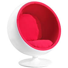 Red Leather Swivel Chair by Odyssey Lounge Chair Zuri Furniture