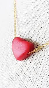 long red heart necklace images Red heart pendant necklace valentines day sweet emma jpg