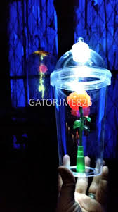 beauty and the beast light up rose sold out beauty the beast be our guest enchanted light up rose