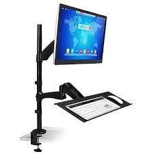 keyboard mount for desk mount it sit stand desk mount workstation monitor laptop and