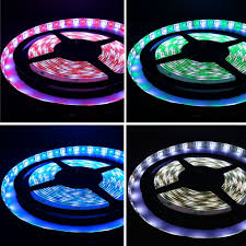 rgb led light strips 16 4ft rgb white color changing led strip lights waterproof