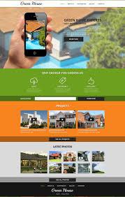 website template 47840 green house home custom website template