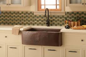 copper farmhouse sink with white cabinets small kitchen ideas for