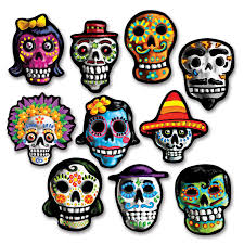 Amazon Com Beistle Day Of The Dead Cutouts Childrens Party
