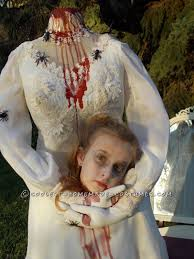 Girls Scary Halloween Costumes Haunting Headless Bride Costume 9 Bride
