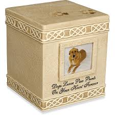 urns for dogs cremation dog urn dog paw prints keepsake box 2