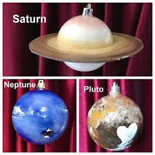 painted solar system complete 9 planet ornament