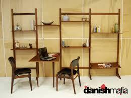 mid century danish modern teak cado wall shelving system display