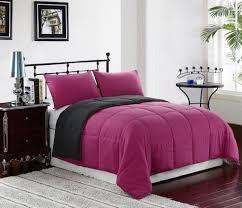 reversible down alternative comforter set pink grey reversible down alternative comforter set pink grey