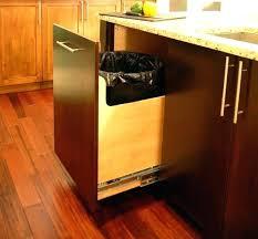under sink trash pull out under sink trash can small pull out trash can small kitchen trash