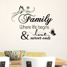 Quotes For Home Decor by Aliexpress Com Buy Family Home Decor Creative Quote Wall Decals