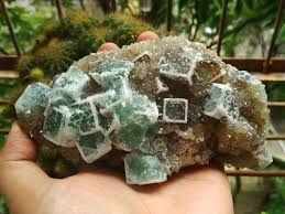 a new lattice window green fluorite and mineral
