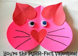 valentine heart cat craft for kids