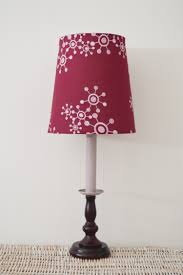lilac hand painted decorative table lamp stand and shade shabby