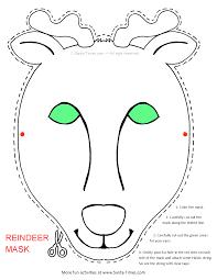 free printable reindeer activities reindeer mask printable coloring page more fun activities and