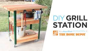 diy grill table plans diy grill cart youtube