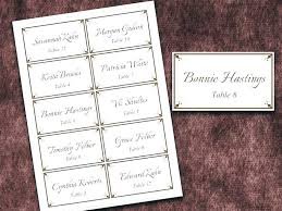 100 free wedding name card template polka dot place cards