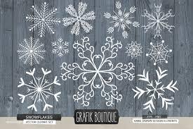snowflakes rustic wood illustrations creative market