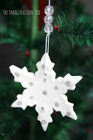 white clay snowflake ornaments the imagination tree