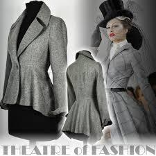 black riding jacket vintage riding jacket tailcoat bustle coat victorian mistress 40s